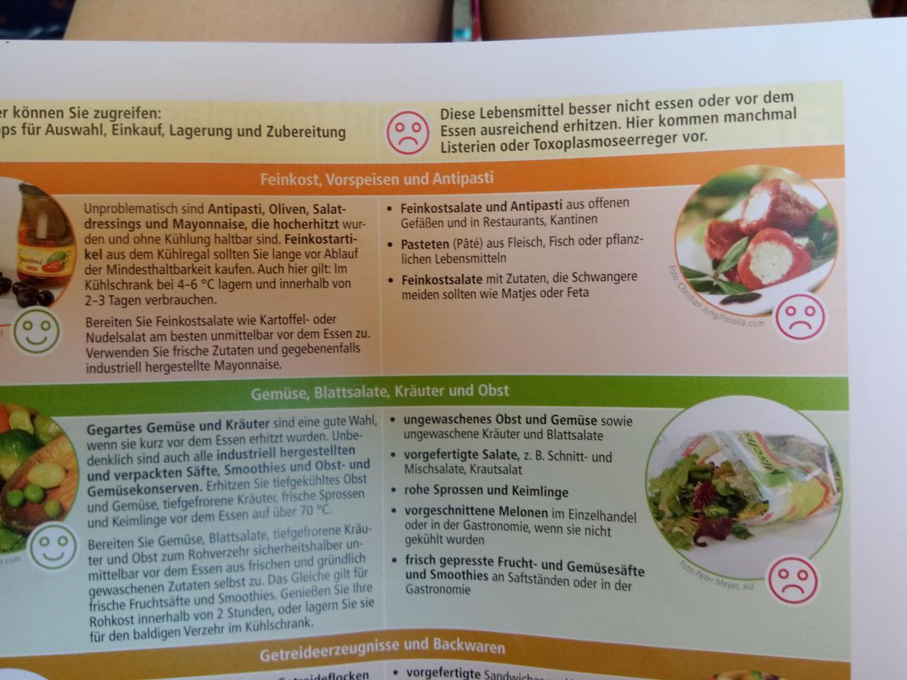 Salat Restaurant Schwangerschaft