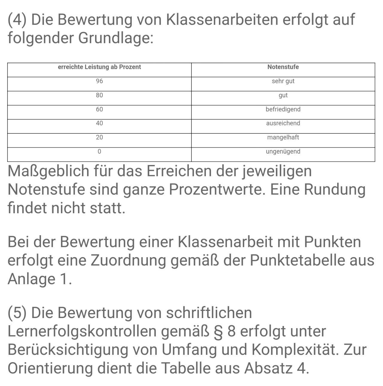 Notenschlüssel Grundschule Nrw
