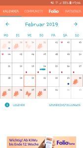 eisprungkalender folio